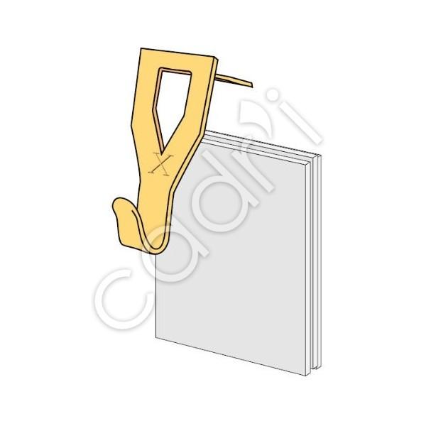 Crochets tableaux le crochet x pour plaque de pl tre for Crochet pour tableau outillage