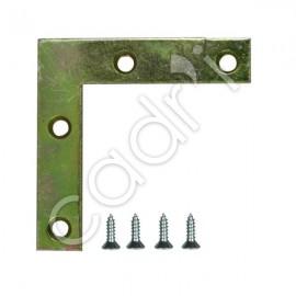 Équerres de Renfort 75 mm pour Cadres Bois - Lot de 4
