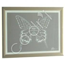 Miroir Gravé Modèle Papillon - 418x319 mm
