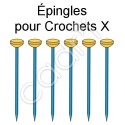 Épingles en Acier Bleui (Lot de 6 Épingles)