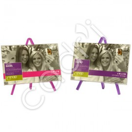 Porte-Photos Chevalets - Lot de 2 (Rose et Violet)