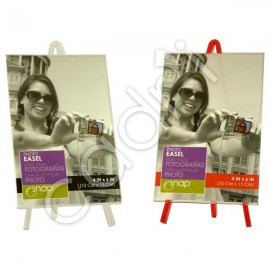 Porte-Photos Chevalets - Lot de 2 (Rouge et Transparent)