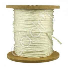 Cordelette Polyester Blanc en Bobine
