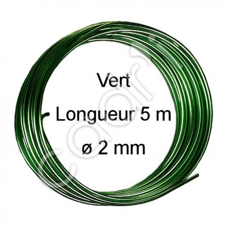 Fils Aluminium Couleur à Façonner - Vert