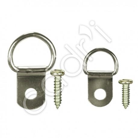 Attaches D-Rings Nickelées - Modèle Standard et Petit Modèle