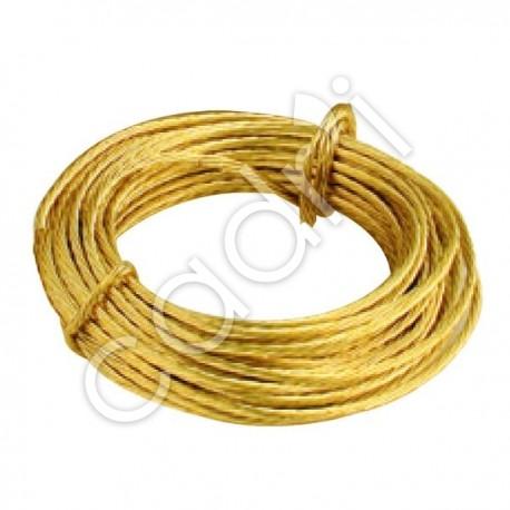 Câble à Entortiller Laitonné - Rouleau de 3 m