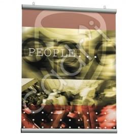 Système d'Accrochage pour Posters (Poster Snap) Gris