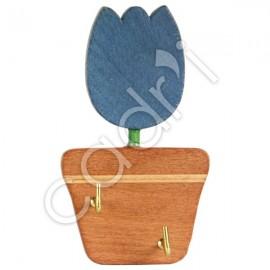 Crochets Adhésifs Bois Crocus Bleu