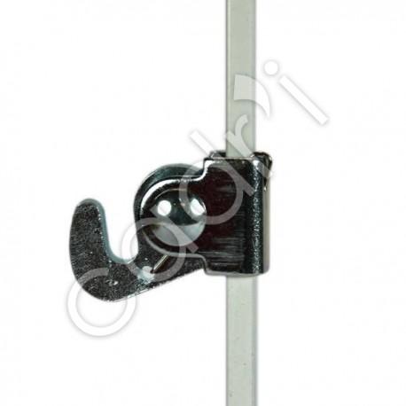 Crochet Autobloquant Alu pour Tige - 40 Kgs