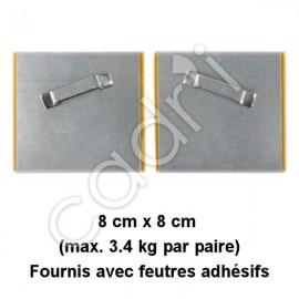 Crochets Adhésifs Dentelés Inclinés pour Suspension de Plaques