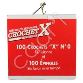 Crochets à Tableaux Le Crochet X pour Plâtre-Brique-Bois (Boîte Complète)
