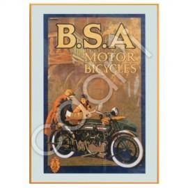 Affiche publicitaire B.S.A. - 699x500 mm