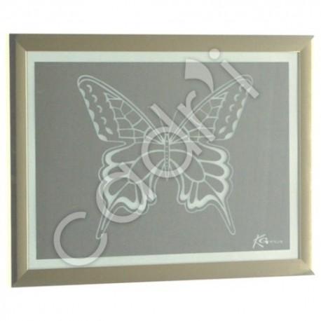 Miroir Gravé Modèle Papillon