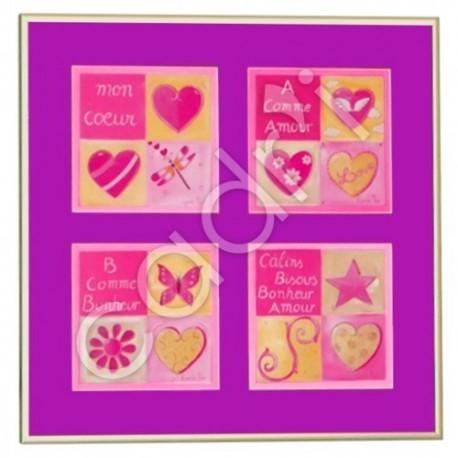 Mon Cœur, A Comme Amour, B Comme Bonheur & Câlins, Bisous, Bonheur, Amour de Lynda Faÿs